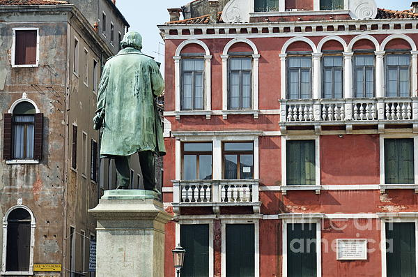 Balconies Photograph - Statue And Building Facade by Sami Sarkis