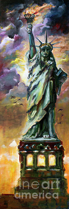 2014 Painting - Statue Of Liberty New York  by Ginette Callaway