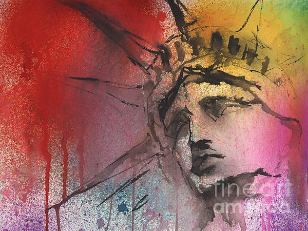 Watercolor Painting - Statue Of Liberty New York Painting by Svetlana Novikova