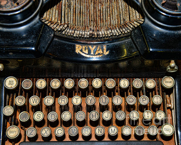 Paul Ward Photograph - Steampunk - Typewriter -the Royal by Paul Ward
