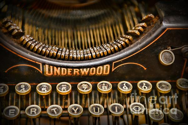 Paul Ward Photograph - Steampunk - Typewriter - Underwood by Paul Ward