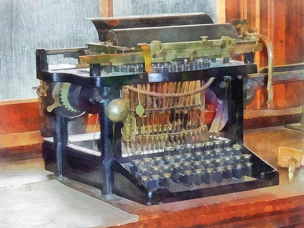 Typewriter Photograph - Steampunk - Vintage Typewriter by Susan Savad