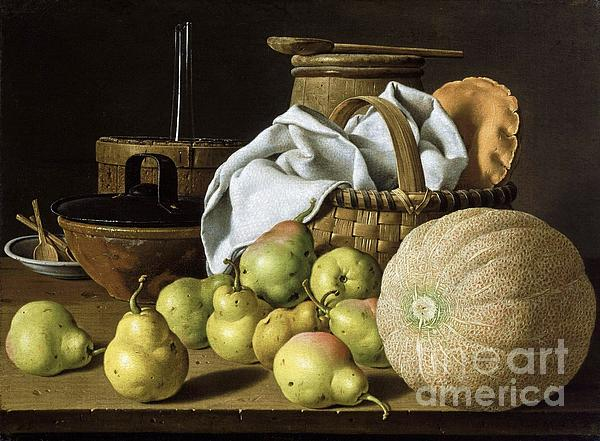 Pd Painting - Still-life  Melon And Pears by Pg Reproductions