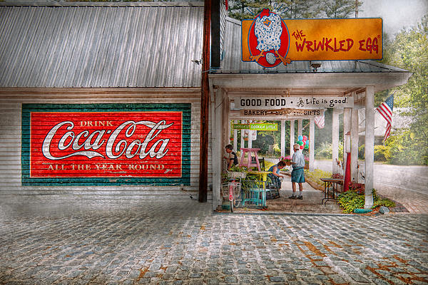Savad Photograph - Store Front - Life Is Good by Mike Savad
