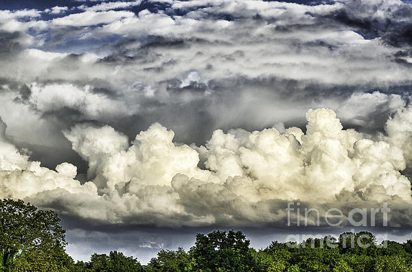 Stormy Sky Photograph - Storm Clouds Over Mountain by Thomas R Fletcher