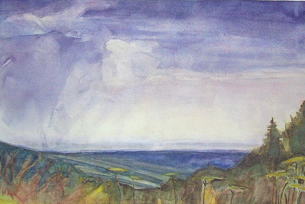 Summer Storm Painting - Storm Heaves - Hog Hill by Grace Keown