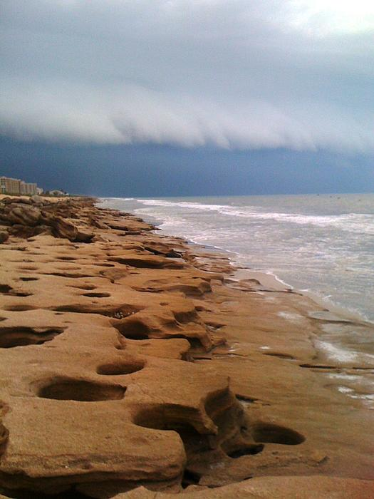 Storm Photograph - Stormy Coquina by Julie Wilcox
