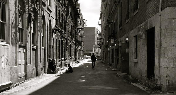 Street Photograph - Street In Sunshine by Jocelyne Choquette