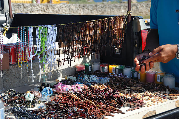 Aruba Photograph - Street Vendor Selling Rosaries by Amy Cicconi