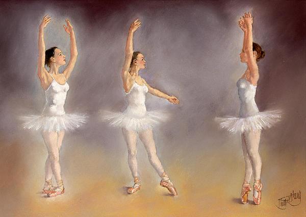 Dancing Painting - Studies Of A Ballet Dancer by Margaret Merry