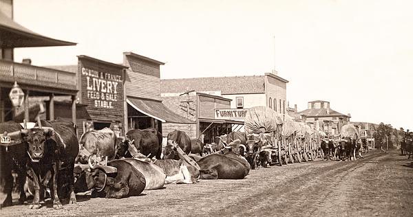 Sturgis Photograph - Sturgis South Dakota C. 1890 by Daniel Hagerman
