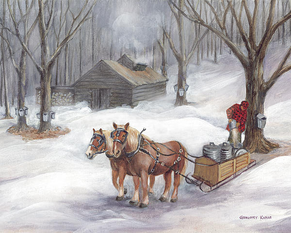 Maple Sugaring Painting - Sugaring Time Again by Gregory Karas