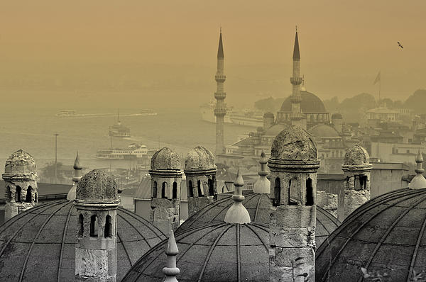 Istanbul Photograph - Suleymaniye Mosque And New Mosque In Istanbul by Ayhan Altun