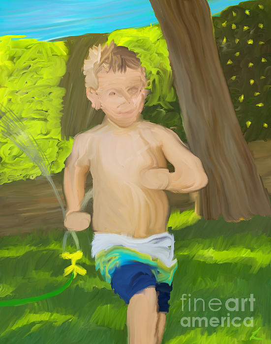 Abstract Painting - Summer Fun by Scott Laffin