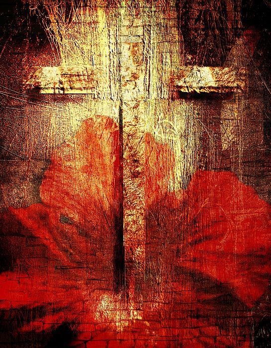 Cross Mixed Media - Summer by Janet Kearns