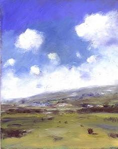 Landscape Painting Painting - Summer Sky Over Brading Down by Alan Daysh
