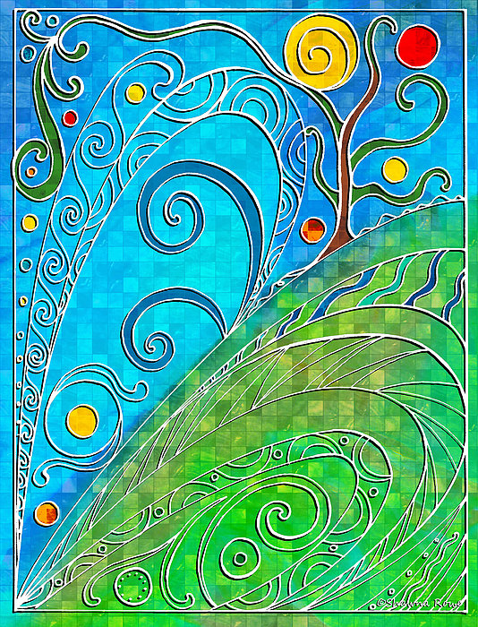 Summer Drawing - Summer Solstice by Shawna Rowe