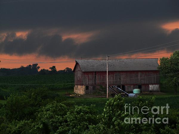 Barns Photograph - Summer Storm Brewing by Laurie Wilcox