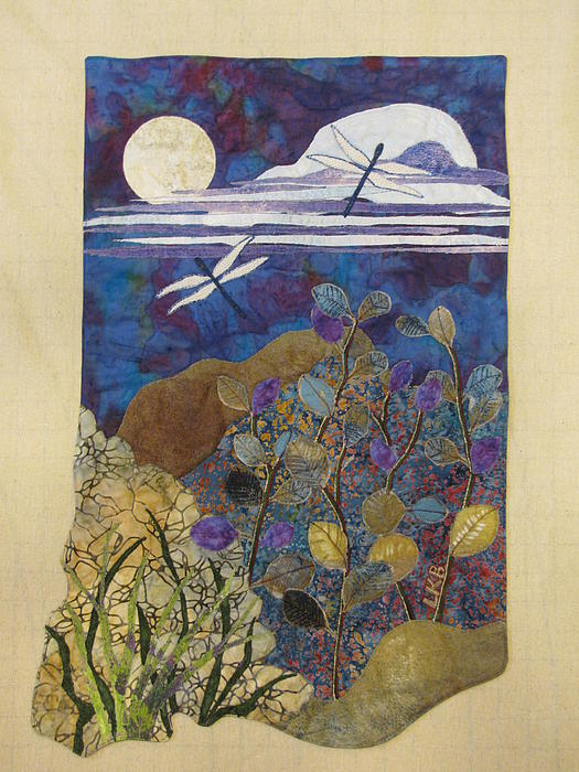 Nature Tapestries - Textiles Tapestry - Textile - Summer Twilight by Lynda K Boardman