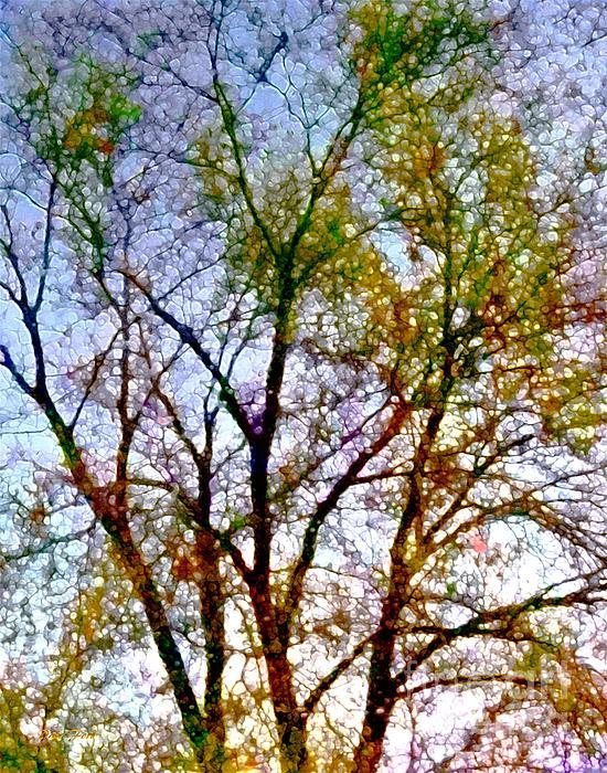 Trees Digital Art - Sun Dappled by Dale   Ford