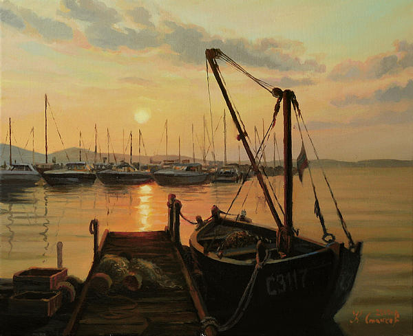 Artistic Painting - Sun Path by Kiril Stanchev