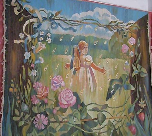 Tapestry - Textile - Sun-rain by Valeriya Temnenko