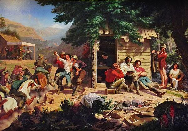 Gold Miners Digital Art - Sunday Morning In The Mines by Charles Nahl