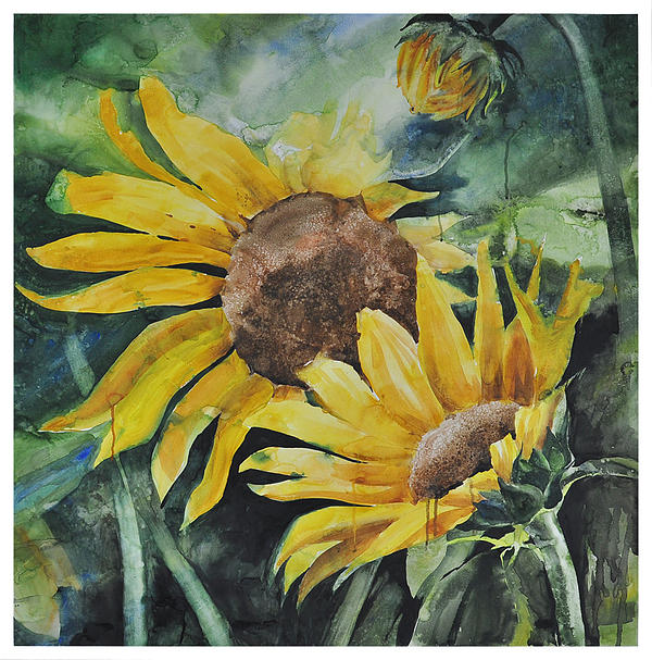 Sunflowers Painting by Santanu Maity