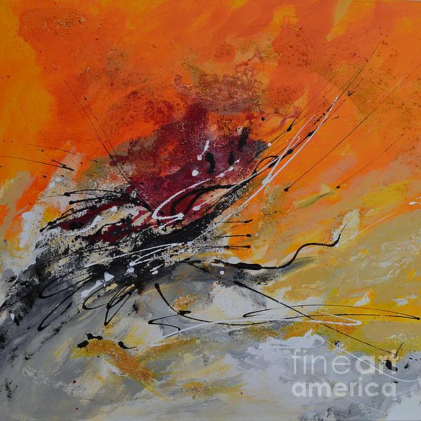 Sunrise Painting - Sunrise - Abstract by Ismeta Gruenwald
