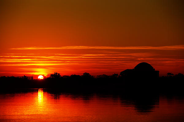 Metro Photograph - Sunrise At Jefferson Memorial by Metro DC Photography