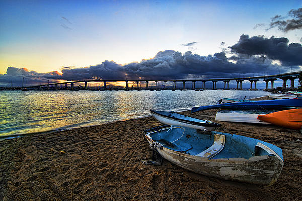 Coronado Photograph - Sunrise - Coronado Bridge by Peter Dang