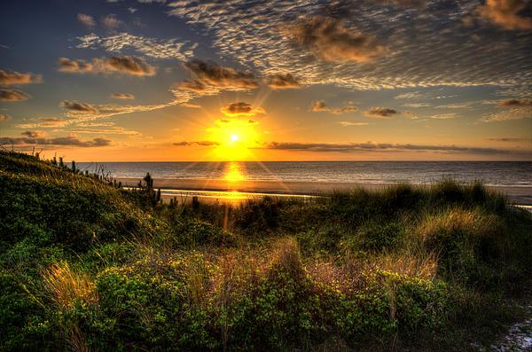 Sunrise Photograph - Sunrise Dune by Greg and Chrystal Mimbs