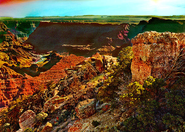 Abyss Photograph - Sunrise Lipan Point Grand Canyon by Bob and Nadine Johnston