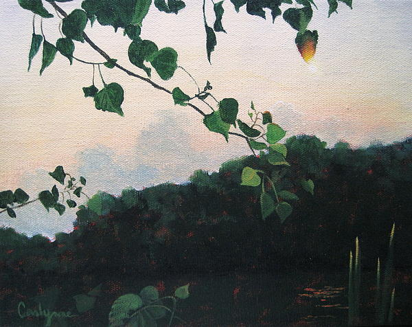 Sunrise Painting - Sunrise On The Lake by Carlynne Hershberger
