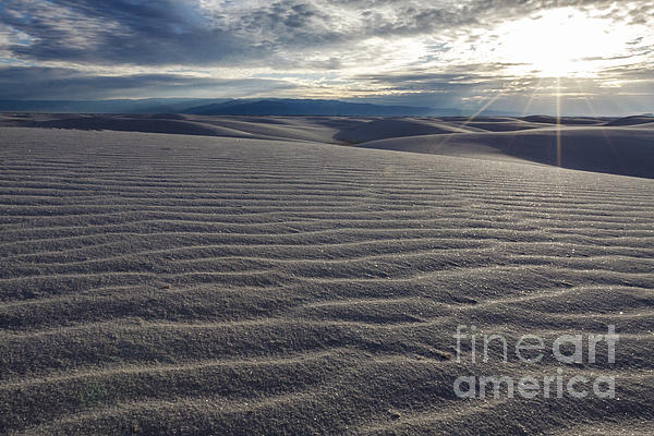Sun Photograph - Sunset 3 - White Sands by Scotts Scapes