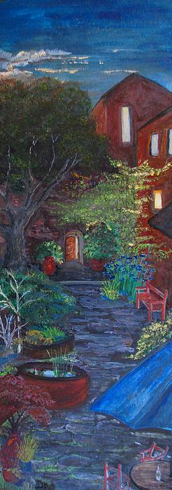 Villa Painting - Sunset At The Villa by Dixie Adams