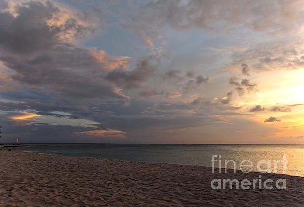 Grand Cayman Photograph - Sunset Grand Cayman by Peggy Hughes