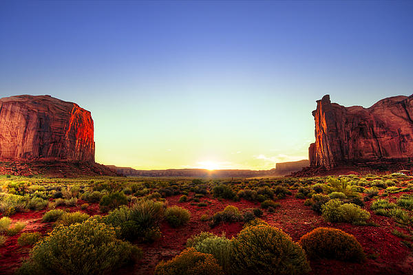 Rocks Photograph - Sunset In Monument Valley by Alexey Stiop