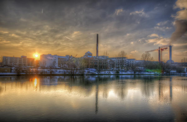 Ancient Digital Art - Sunset On The Esifabrik by Nathan Wright