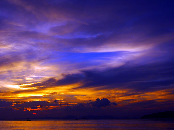 Sunset Photograph - Sunset Over Sea by Kaleidoscopik Photography