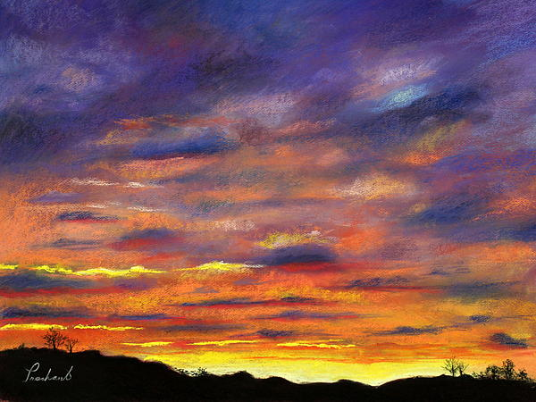 Sky Painting - Sunset by Prashant Shah