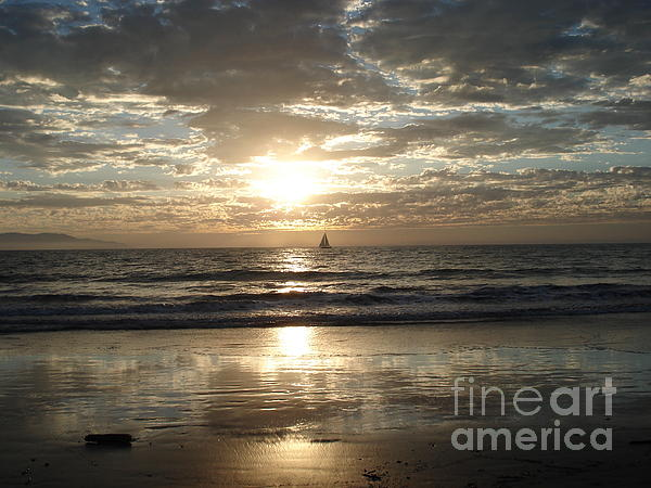 Ocean Photograph - Sunset Sail by Crystal Joy Photography