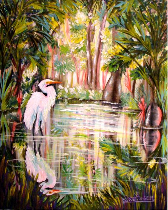 Swamp Angel Painting