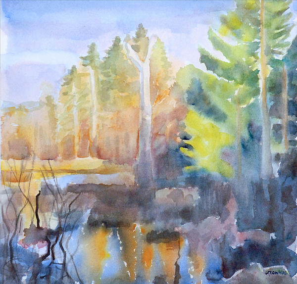 Maine Painting - Swamp Color by Grace Keown