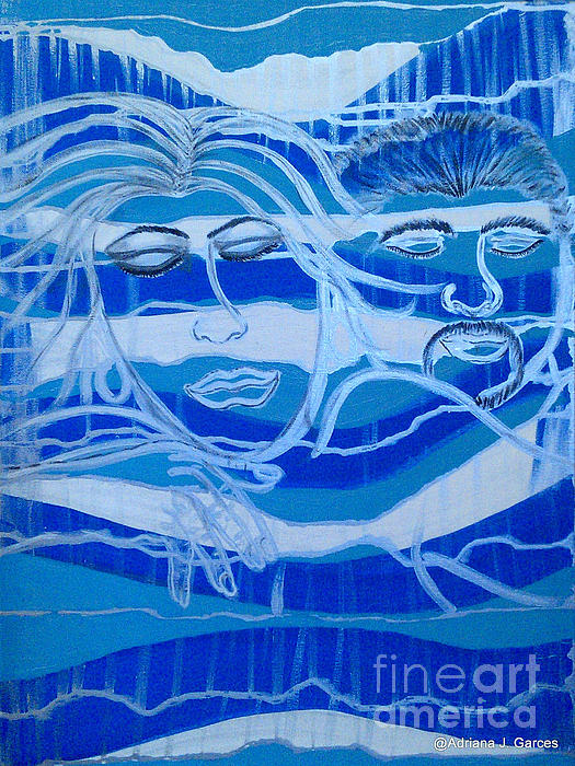 Figurative-abstract Painting - Sweet Dreams by Adriana Garces