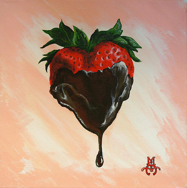 Food Painting - Sweet Heart by Marco Antonio Aguilar