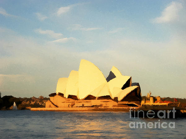 Sydney Painting - Sydney Opera House Painting by Pixel Chimp