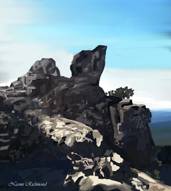 Active Digital Art - Table Rock Calistoga California by Naomi Richmond