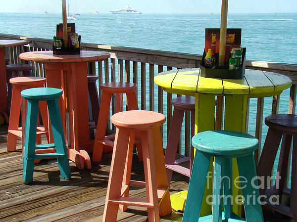Seascape Photograph - Tables With A View by Eva Kato