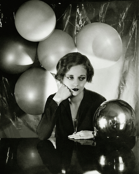 Tallulah Bankhead Surrounded By Balloons Photograph by Cecil Beaton